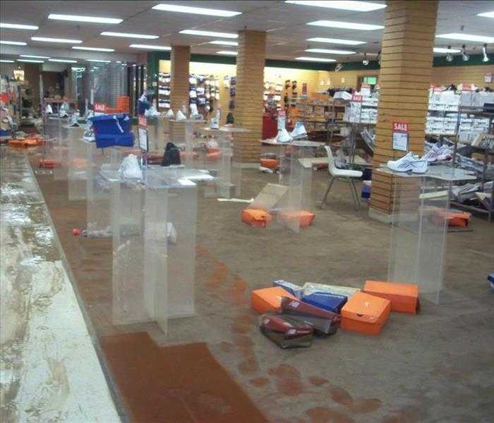 Retail Water Damage  Before