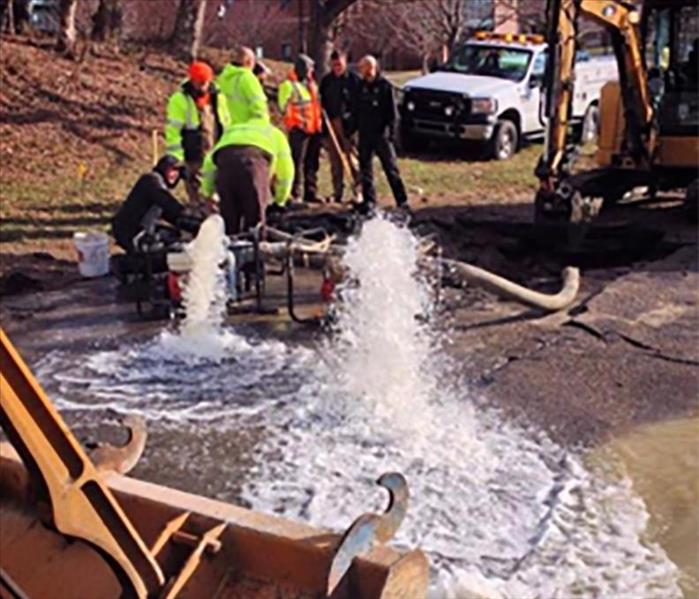 Water Main Break in Alexandria